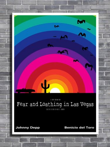 1990's Movie - FEAR & LOATHING SUNSET - canvas print - self adhesive poster - photo print